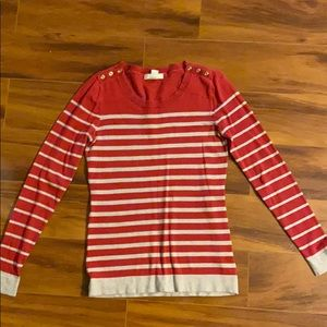Banana Republic Size Small Red & Tan Sweater